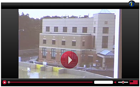 Lourdes Hospital automatic flood barriers