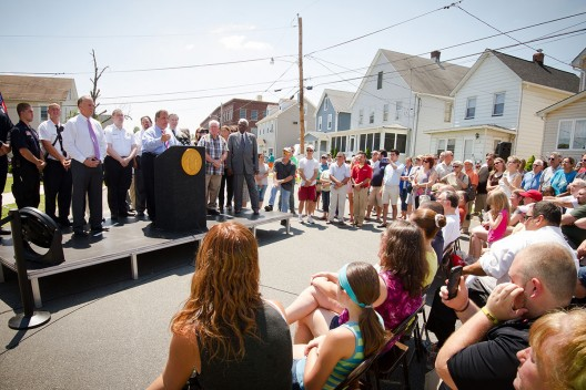 Gov Christie announces NJ flood plan