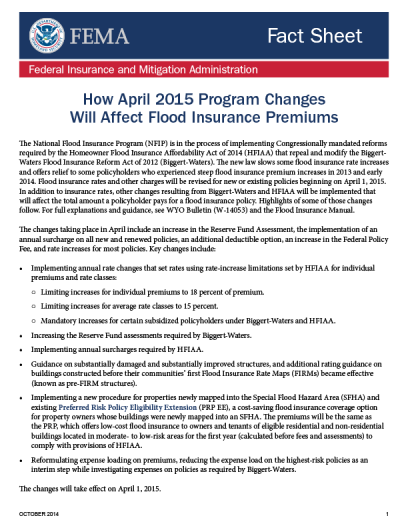 FEMA HFIAA October Bulletin FS_100814