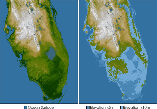 Impact of sea level rise on Florida