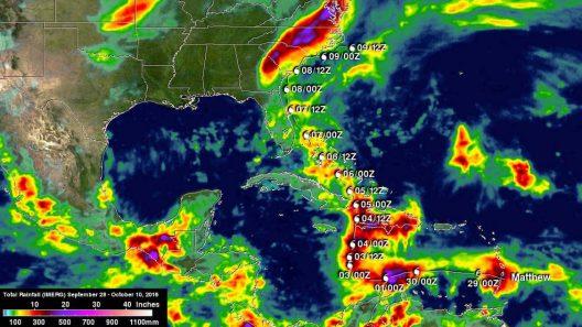 Hurricane Matthew rainfall