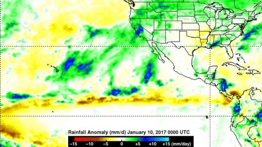 California Rainfall Anomaly - January 2017
