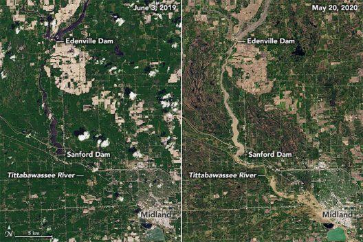 Midland Michigan flooding, May 2020