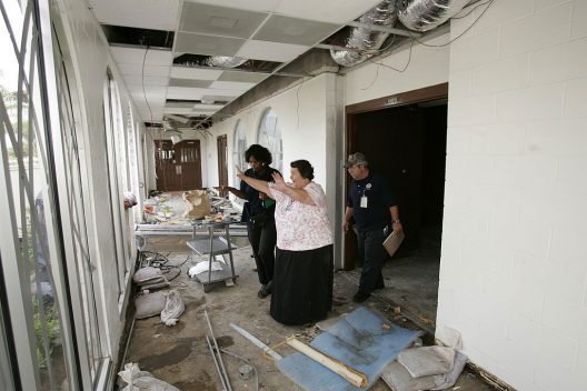 FEMA specialists inspect a hospital in Texas